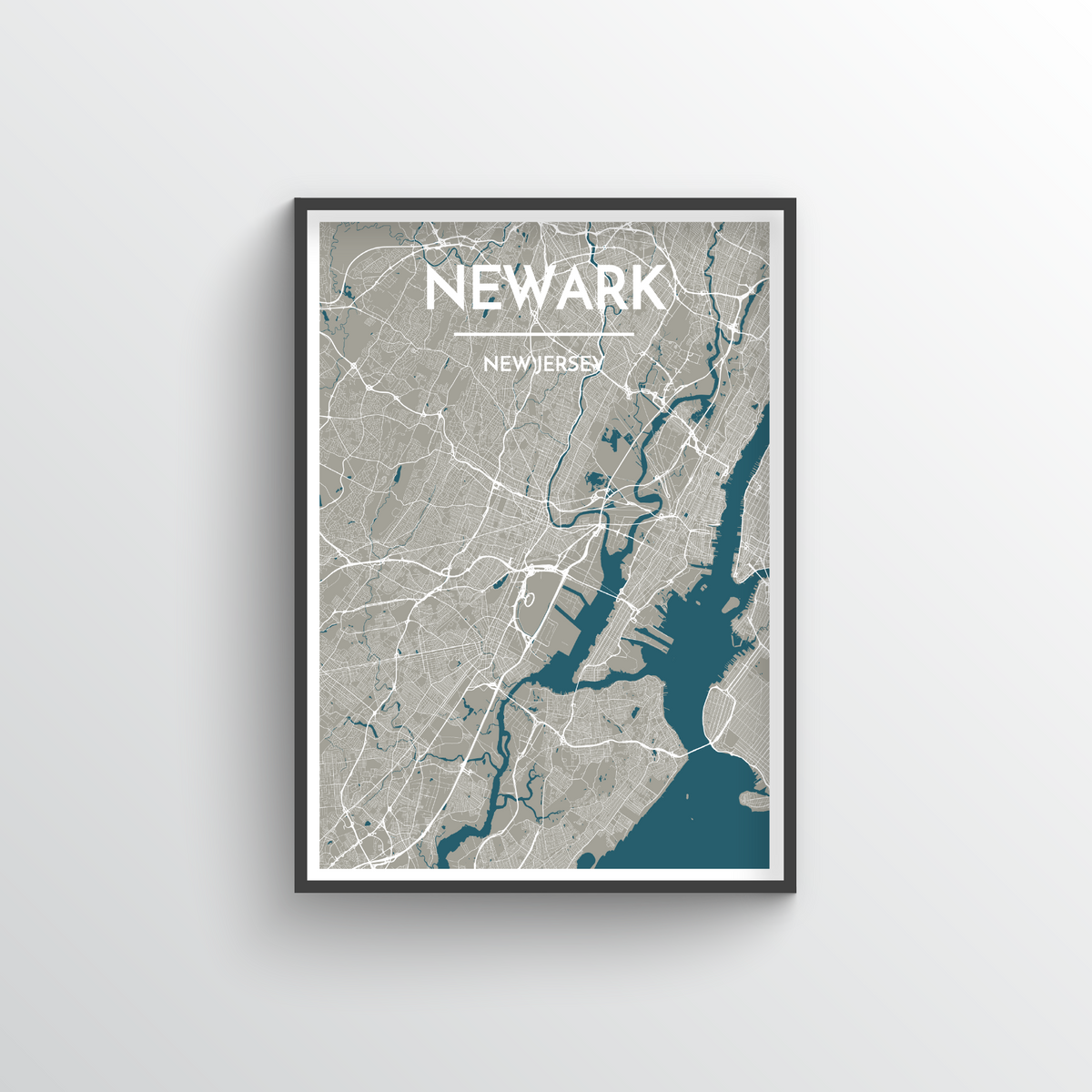 Newark Map Art Print - Point Two Design