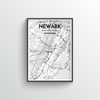 Newark City Map Art Print - Point Two Design