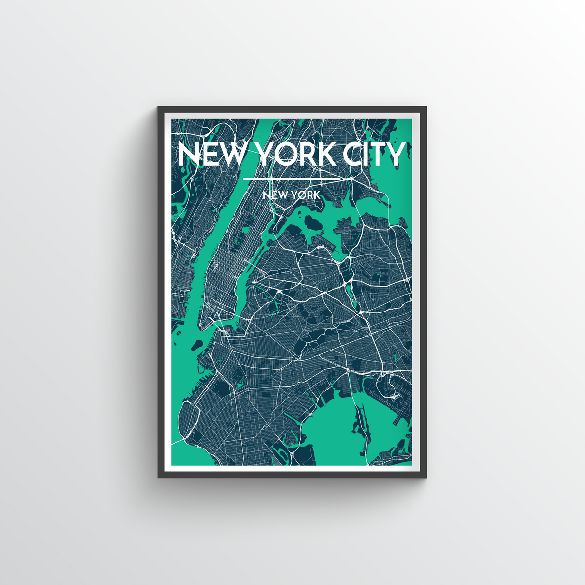 New York Map Art Print - Point Two Design