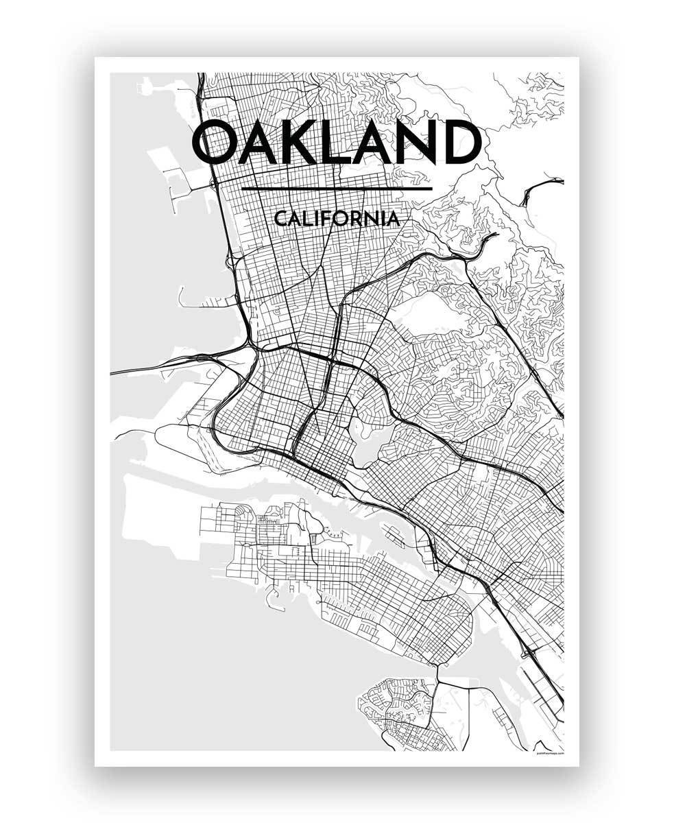 Oakland Map Art Print - Point Two Design
