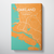 Oakland Map Art Print Map Canvas Wrap - Point Two Design