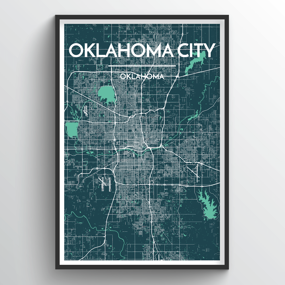 Oklahoma City Map Art Prints - High Quality Custom Made Art - Point on pull down map, zoomed in houston tx map, interactive world globe map, create a route map, ebola outbreak 2014 map, ancient world map, abu dhabi on world map, nasa digital world map, close up map, full screen usa map, pull up map, social media map, zanzibar world map, interactive us road map, large flat world map, search map, zermatt switzerland map, view map, silverlight virtual earth map, isis in map,