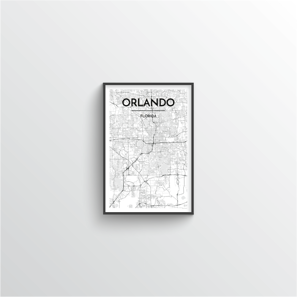 Orlando Map Art Print - Point Two Design