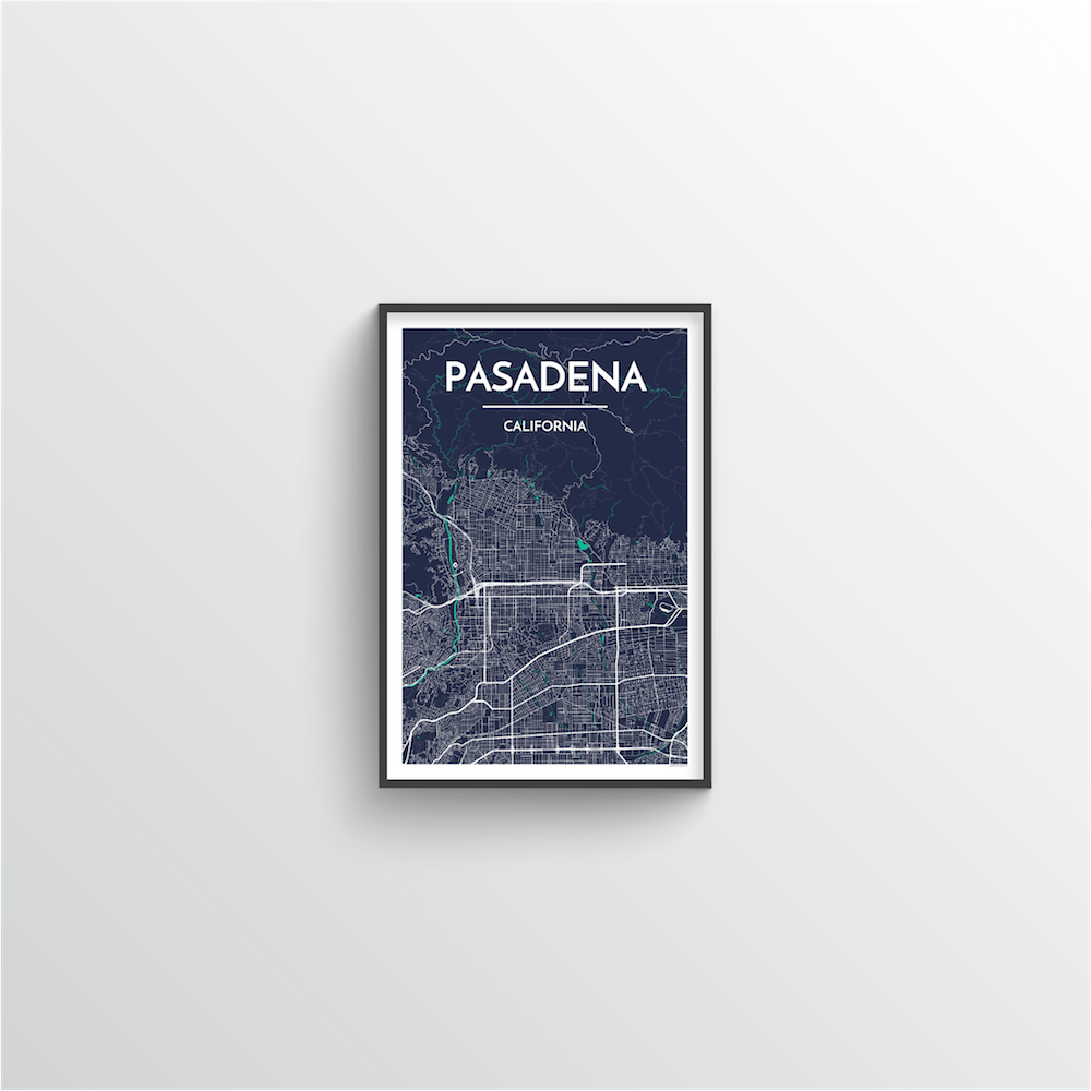 Pasadena Map Art Print - Point Two Design