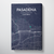 Pasadena City Map Canvas Wrap - Point Two Design