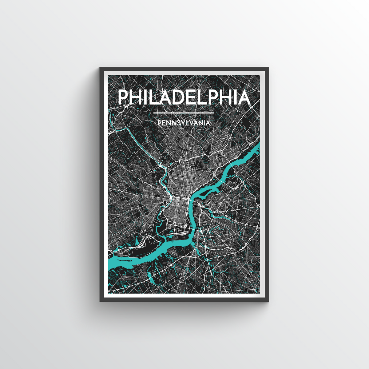 Philadelphia Map Art Print - Point Two Design