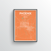 Phoenix City Map Art Print - Point Two Design