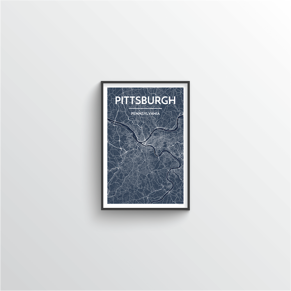 Pittsburgh Map Art Print - Point Two Design