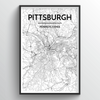 Pittsburgh City Map Art Print - Point Two Design