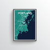 Portland - Maine City Map Art Print - Point Two Design