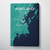 Portland - Maine City Map Canvas Wrap - Point Two Design