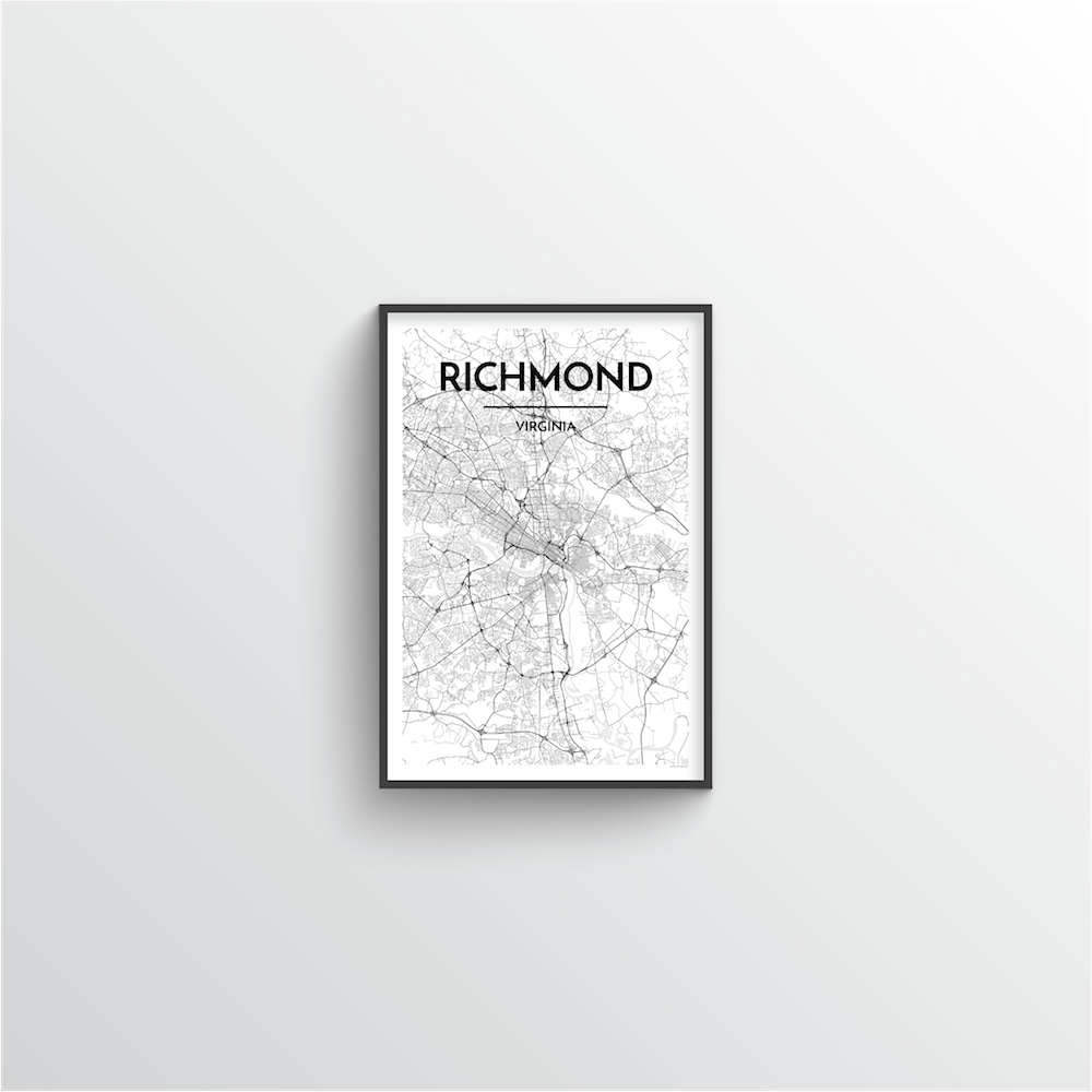 Richmond Map Art Print - Point Two Design