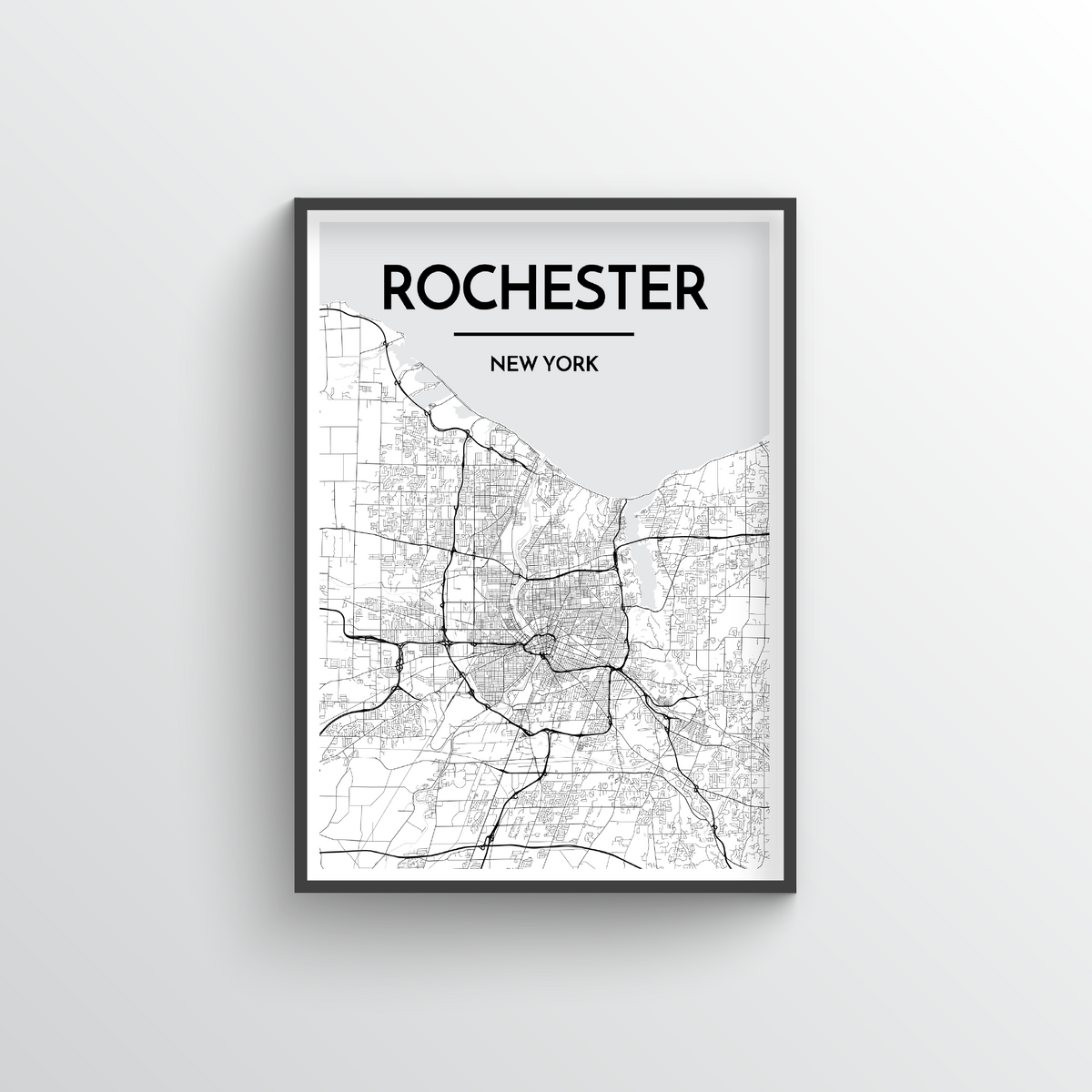 Rochester Map Art Print - Point Two Design