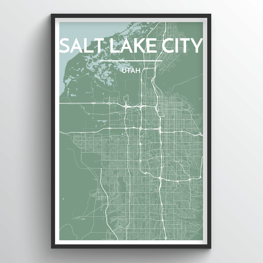 Salt Lake Map Art Print - Point Two Design