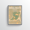 Bernal Heights San Francisco Map Art Print - Point Two Design