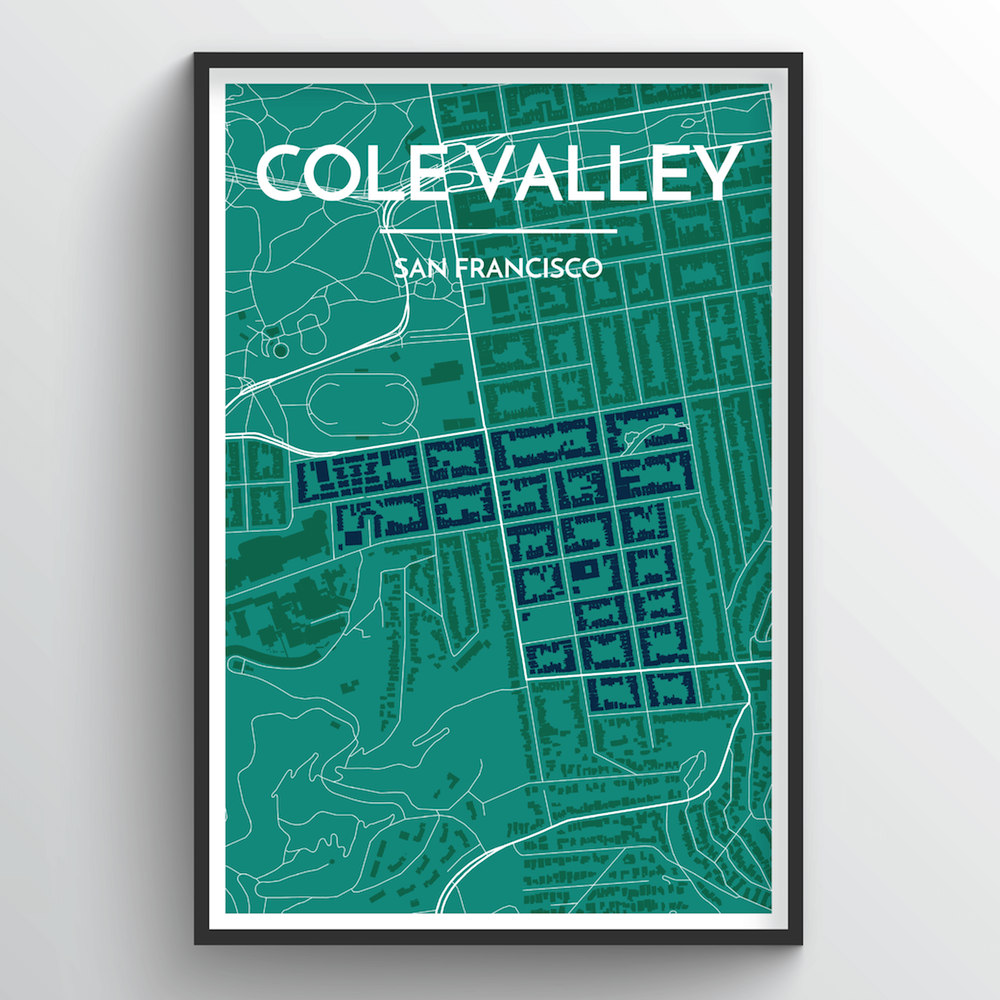Cole Valley San Francisco Map Art Print - Point Two Design