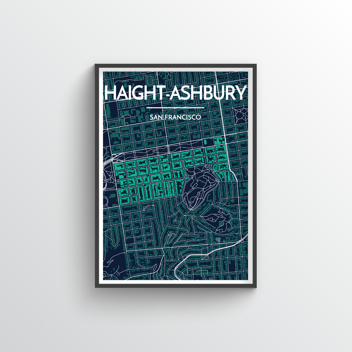 Haight-Ashbury San Francisco Map Art Print - Point Two Design