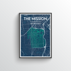 The Mission San Francisco Map Art Print