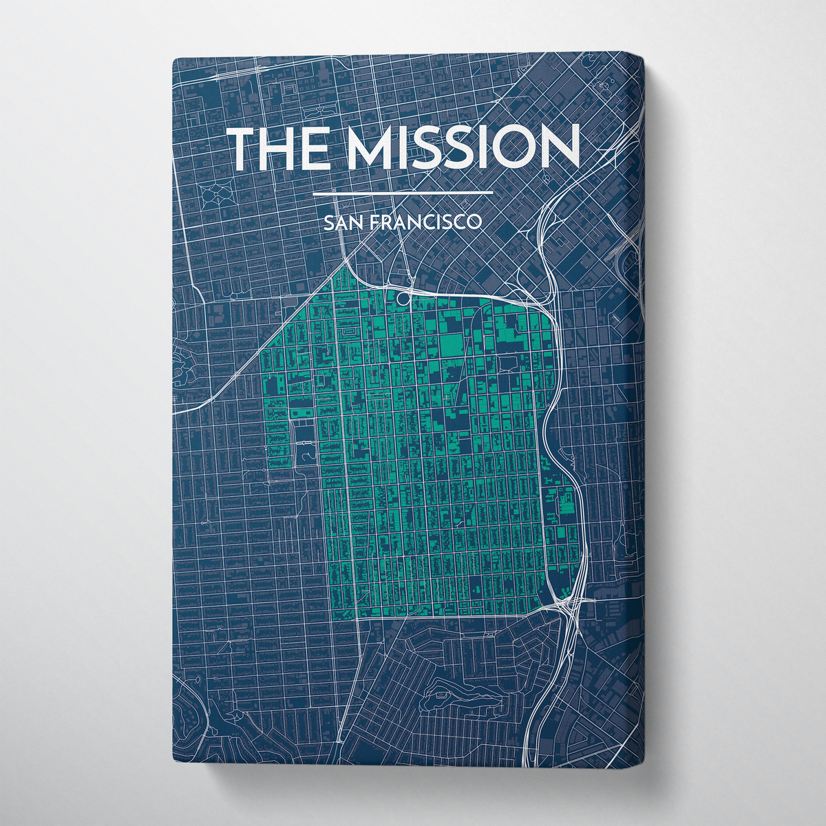 The Mission San Francisco City Map Canvas Wrap - Point Two Design
