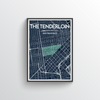 The Tenderloin San Francisco Map Art Print