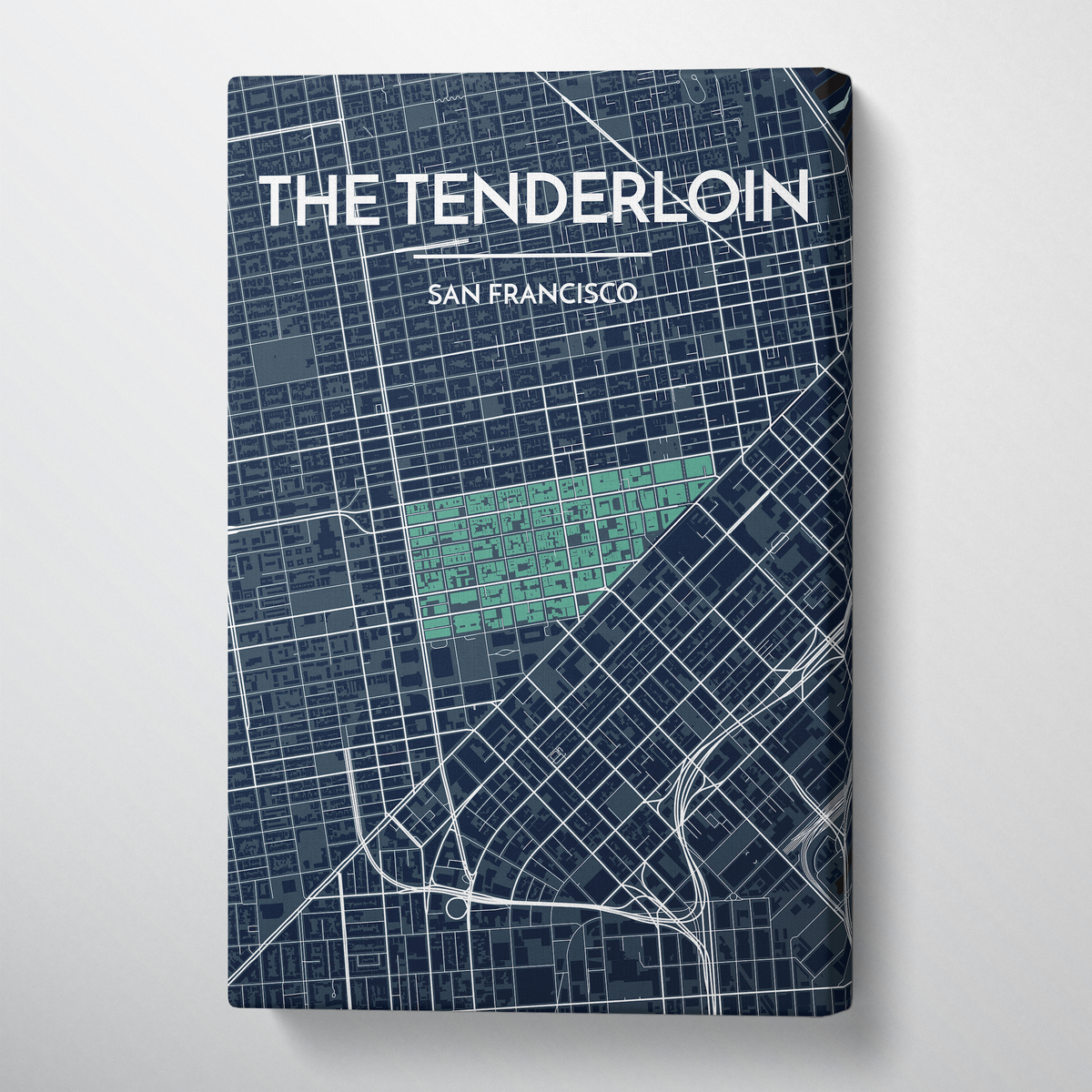 The Tenderloin San Francisco City Map Canvas Wrap - Point Two Design