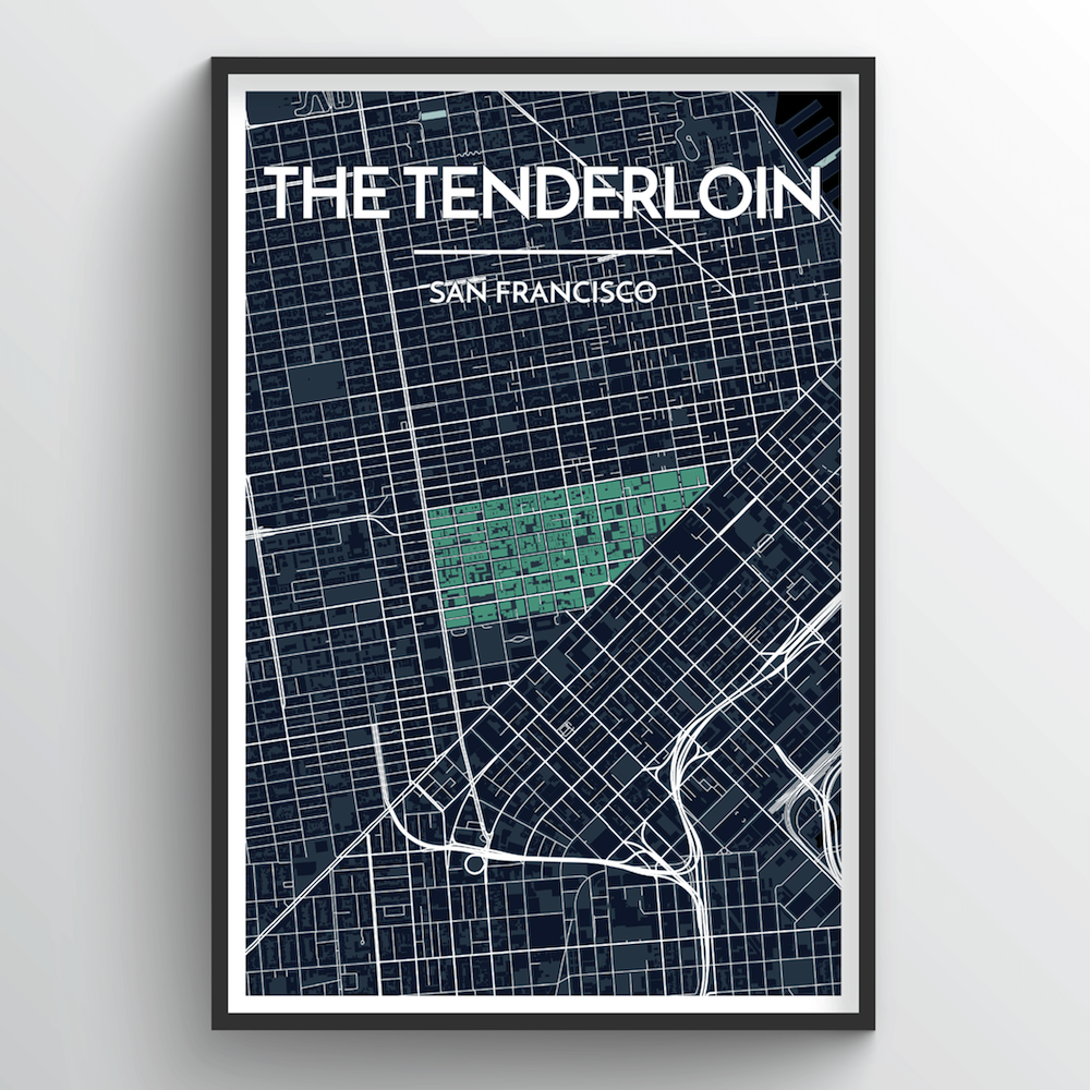 The Tenderloin San Francisco City Map Art Print - Point Two Design