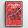 Castro San Francisco Map Art Print - Point Two Design