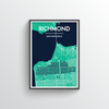 The Richmond District San Francisco Map Art Print