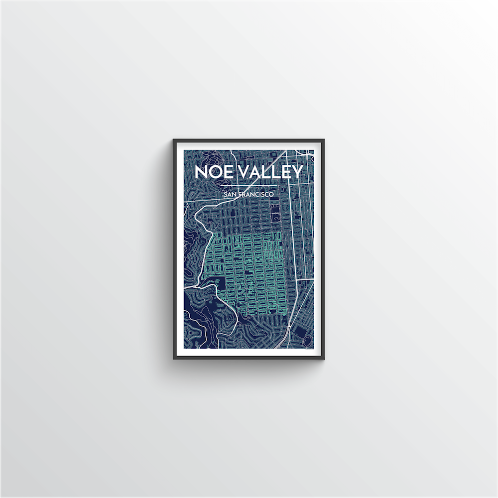 Noe Valley San Francisco Map Art Print - Point Two Design