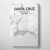 Santa Cruz Map Art Print