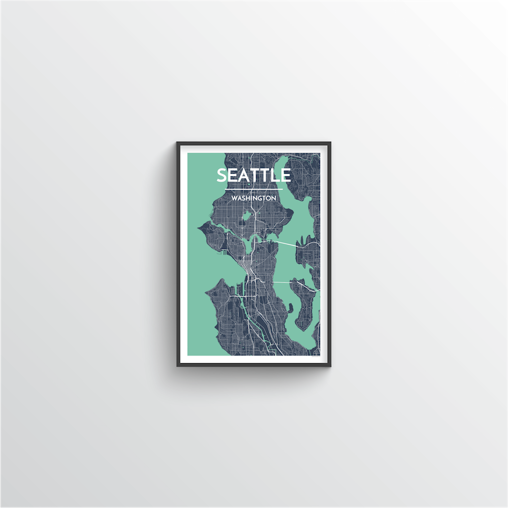 Seattle Map Art Print - Point Two Design