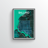 Seattle Ballard Neighbourhood Map Art Print