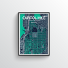 Seattle Capitol Hill Neighbourhood Map Art Print