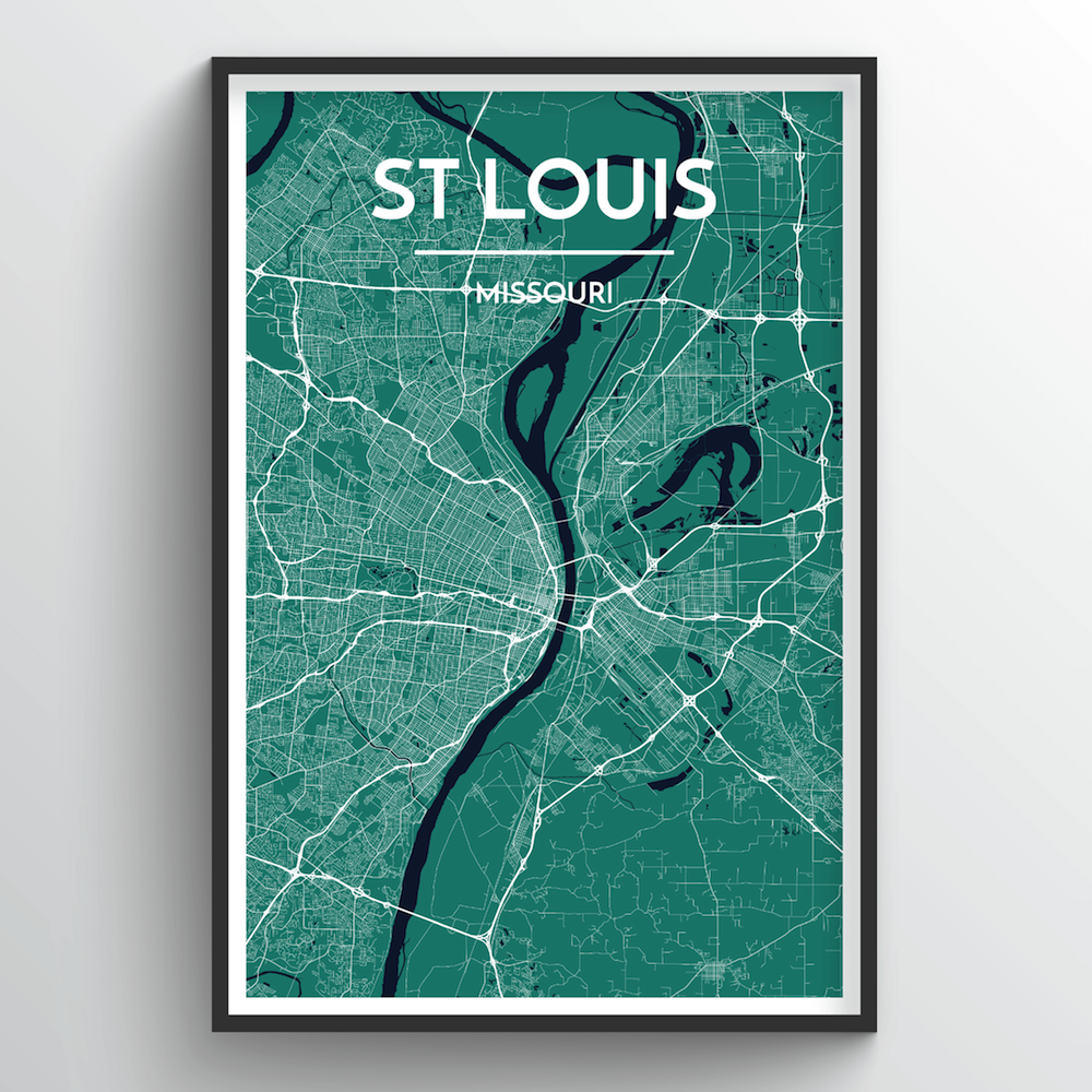 St Louis Map Art Print - Point Two Design