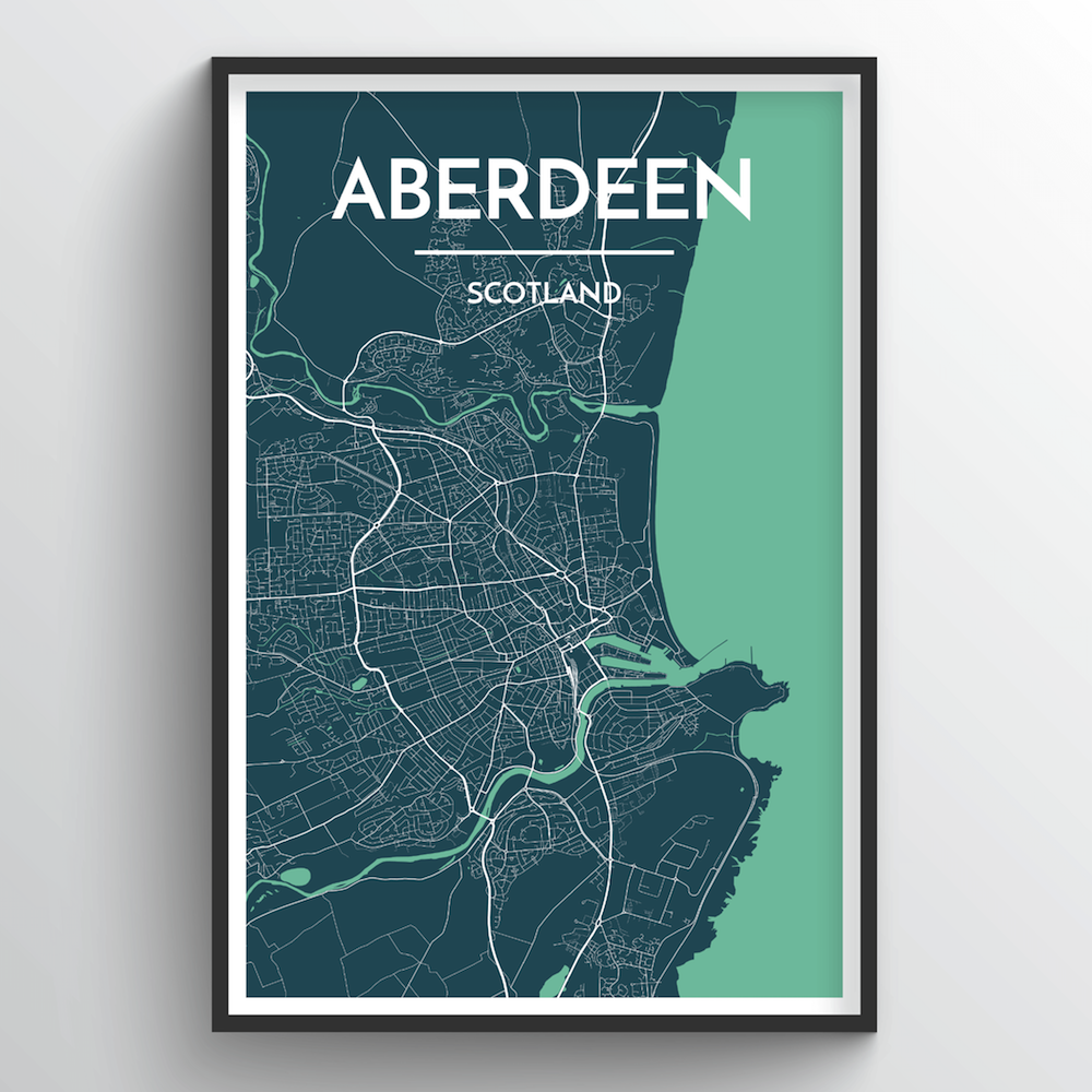 Aberdeen Map Art Print - Point Two Design
