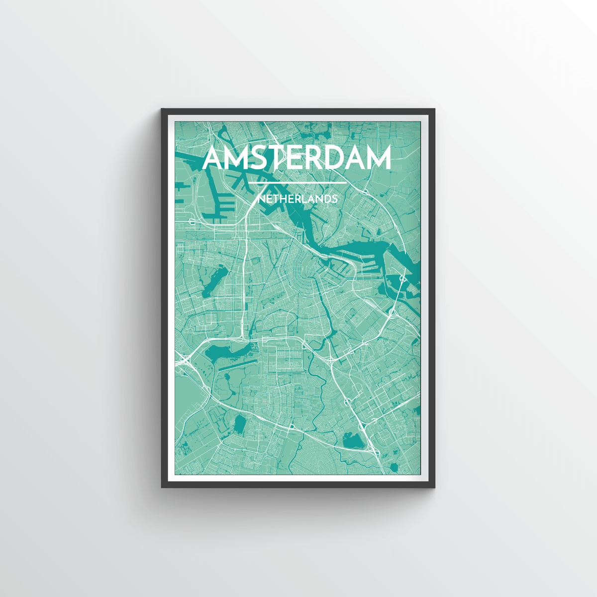 Amsterdam Map Art Print - Point Two Design