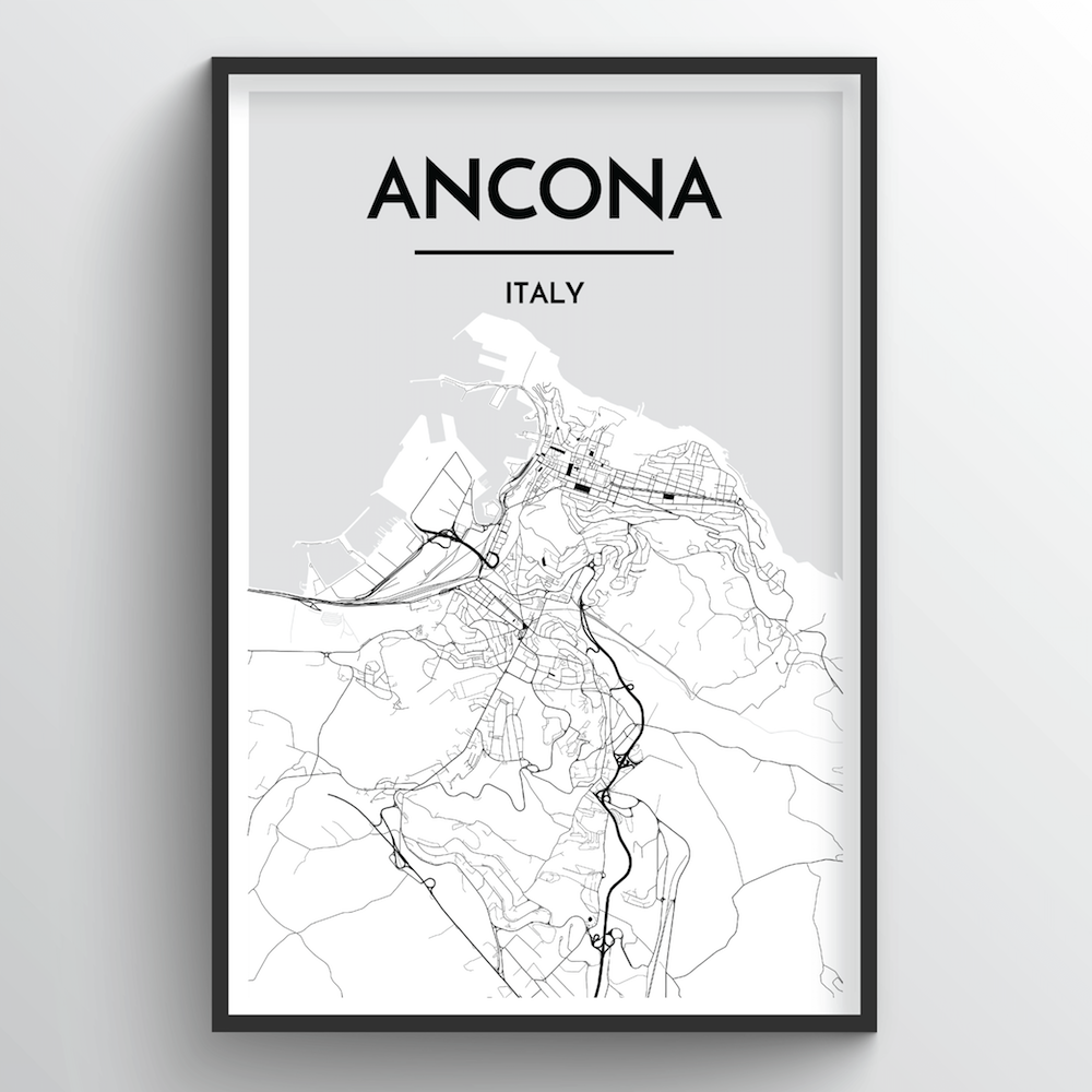 Ancona Map Art Print - Point Two Design