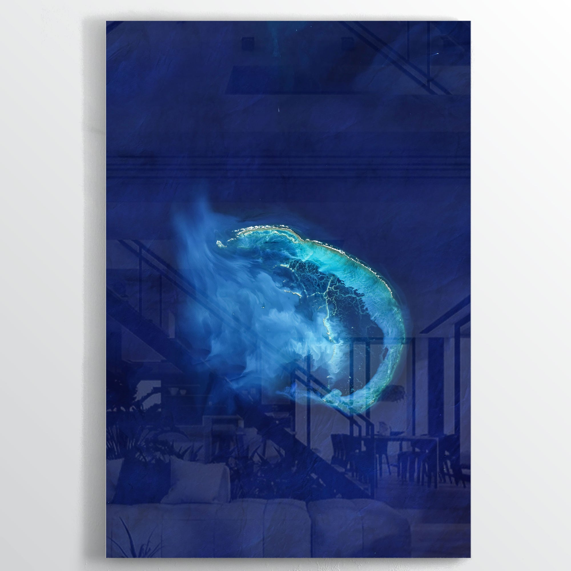 Frigate Shoals Earth Photography - Acrylic - Point Two Design