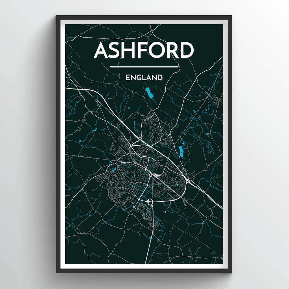 Ashford Map Art Print - Point Two Design