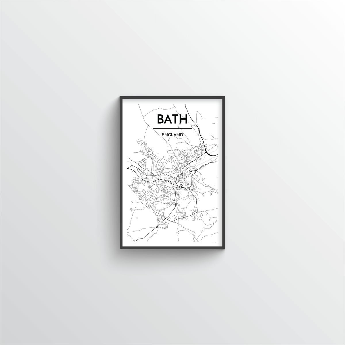 Bath Map Art Print - Point Two Design