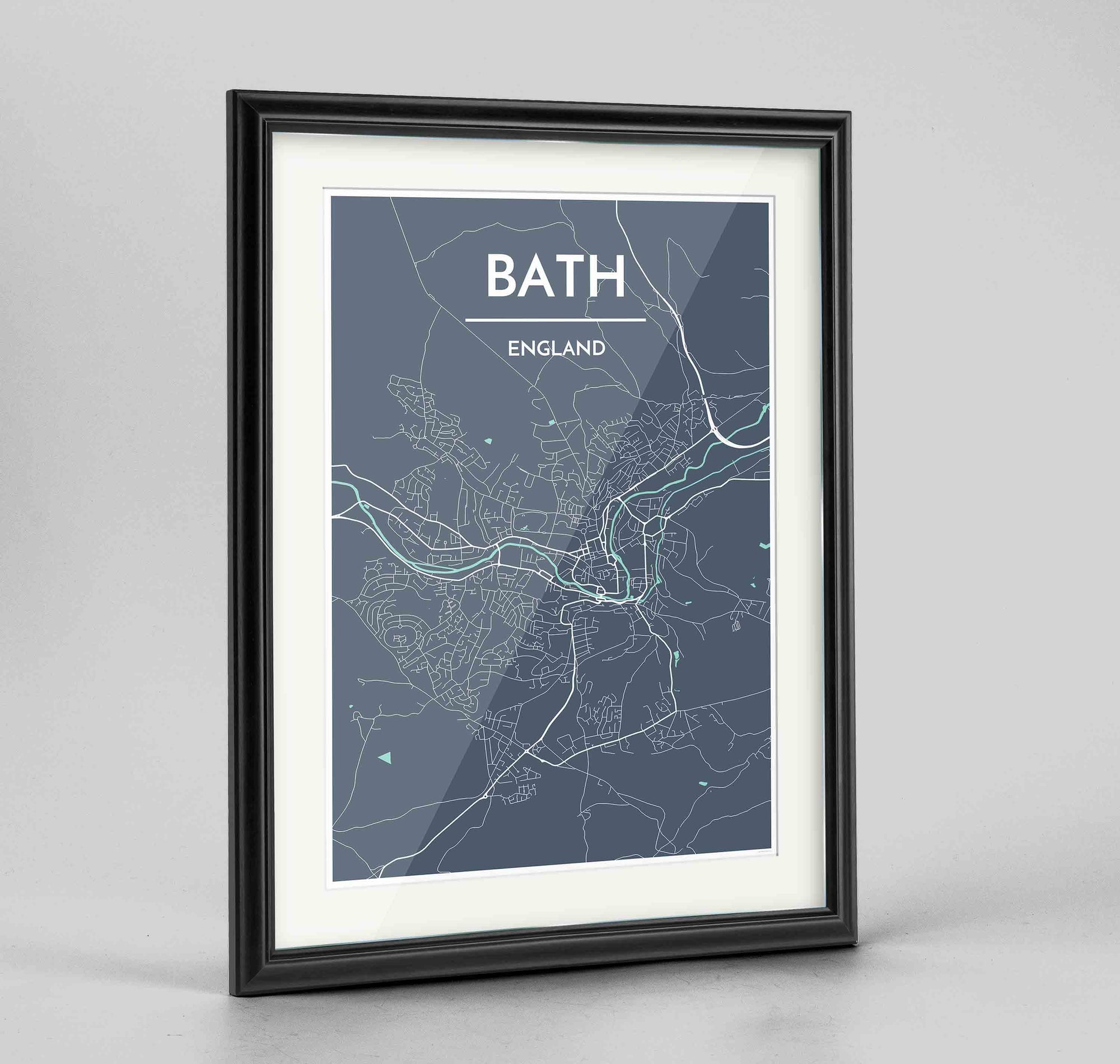 Framed Bath City Map Art Prints High Quality Custom Made Framed Art Point Two Design