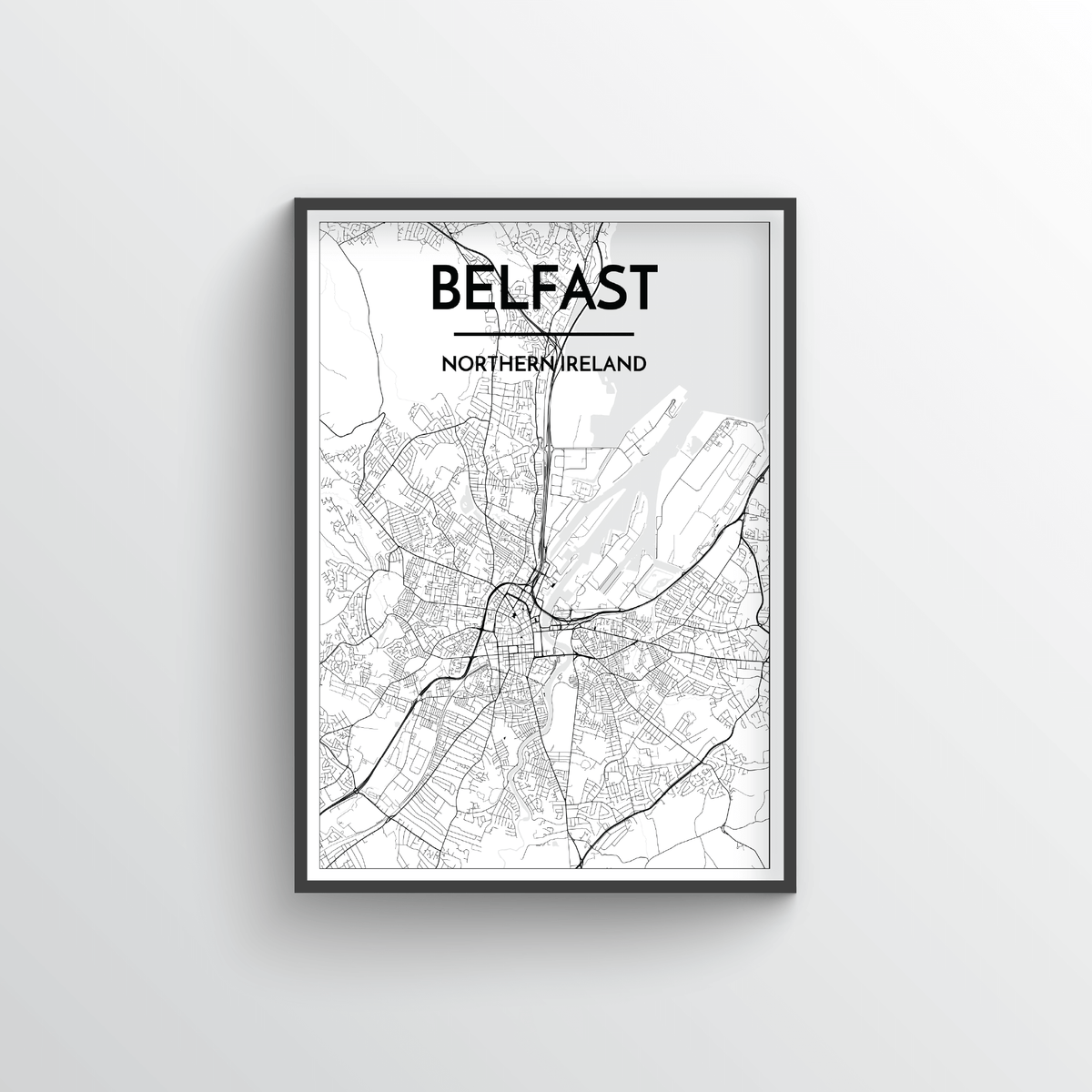 Belfast Map Art Print - Point Two Design