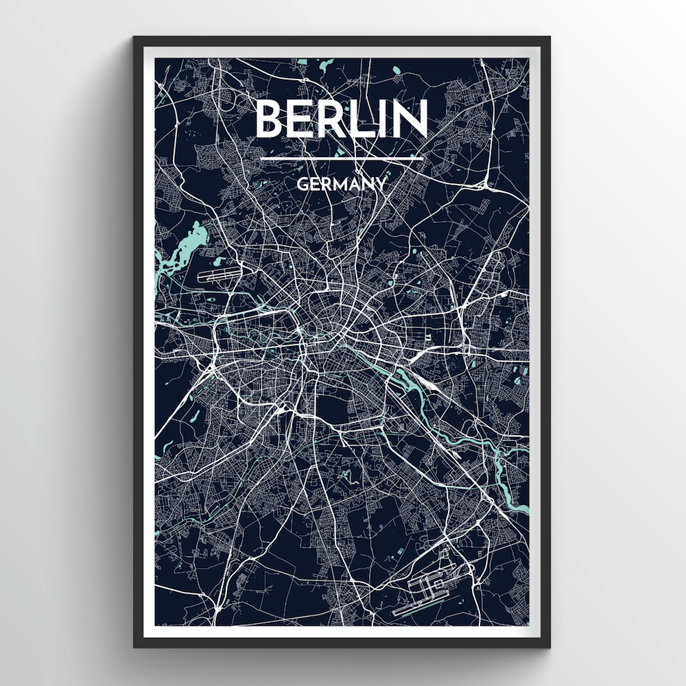 Berlin Map Art Print - Point Two Design