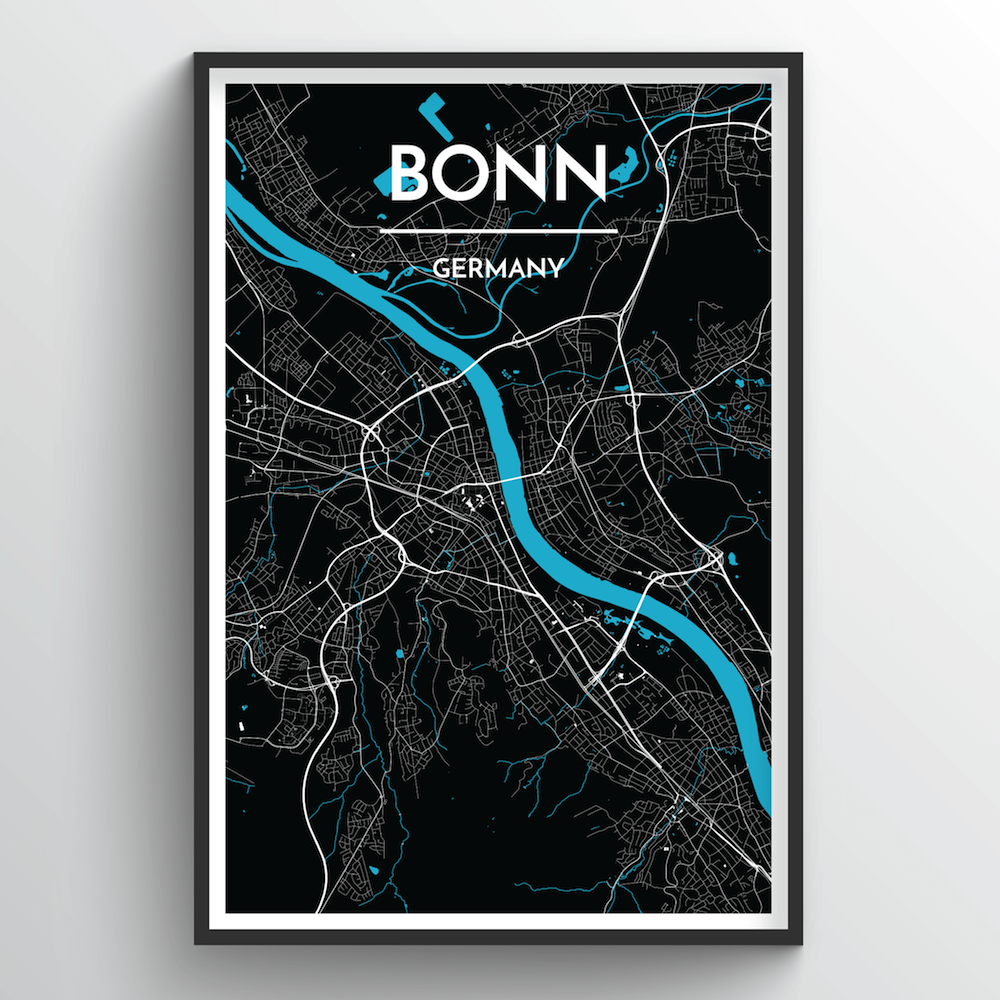 Bonn Map Art Print - Point Two Design