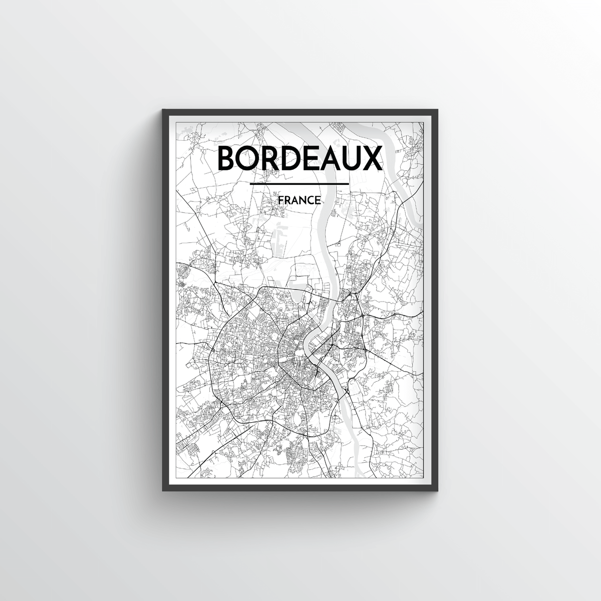 Bordeaux Map Art Print - Point Two Design