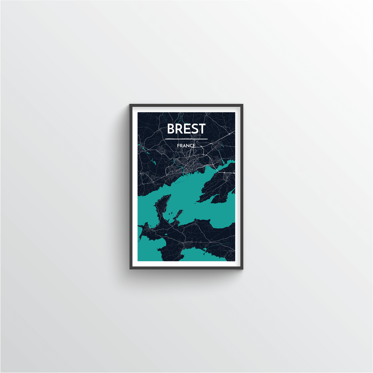 Brest Map Art Print - Point Two Design