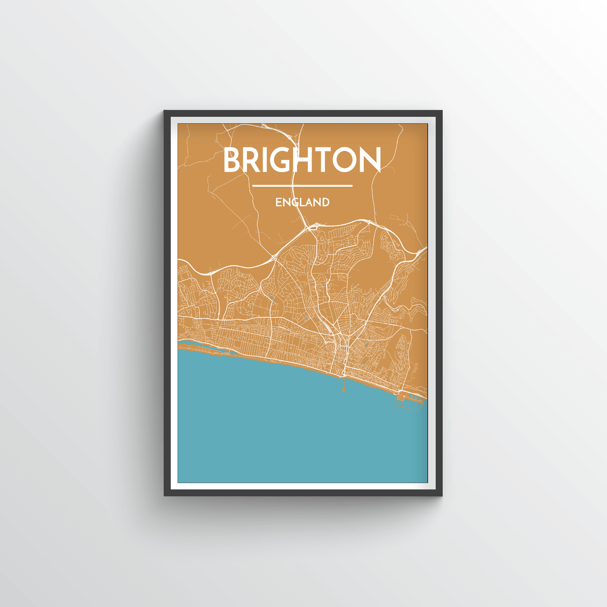 Brighton Map Art Print - Point Two Design
