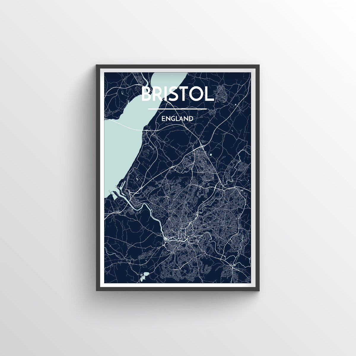 Bristol Map Art Print - Point Two Design