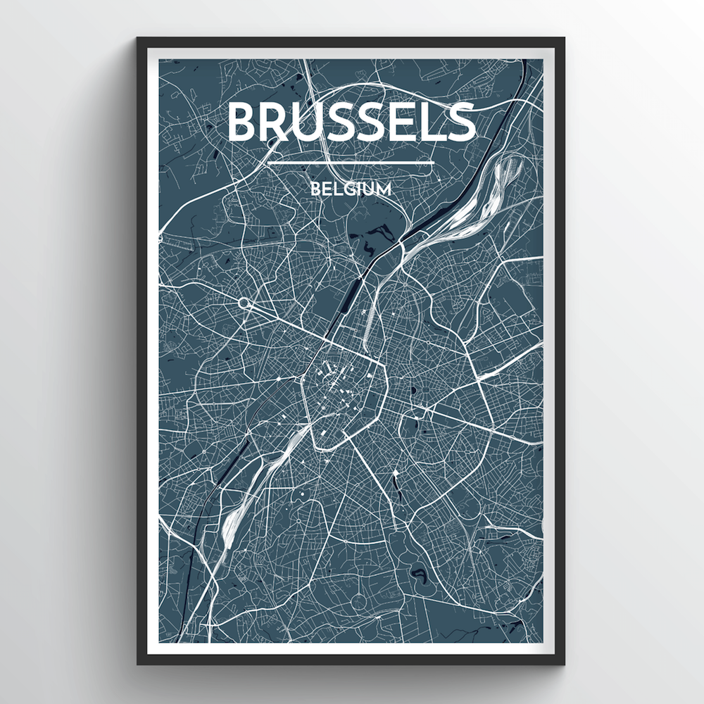 Brussels Map Art Print - Point Two Design