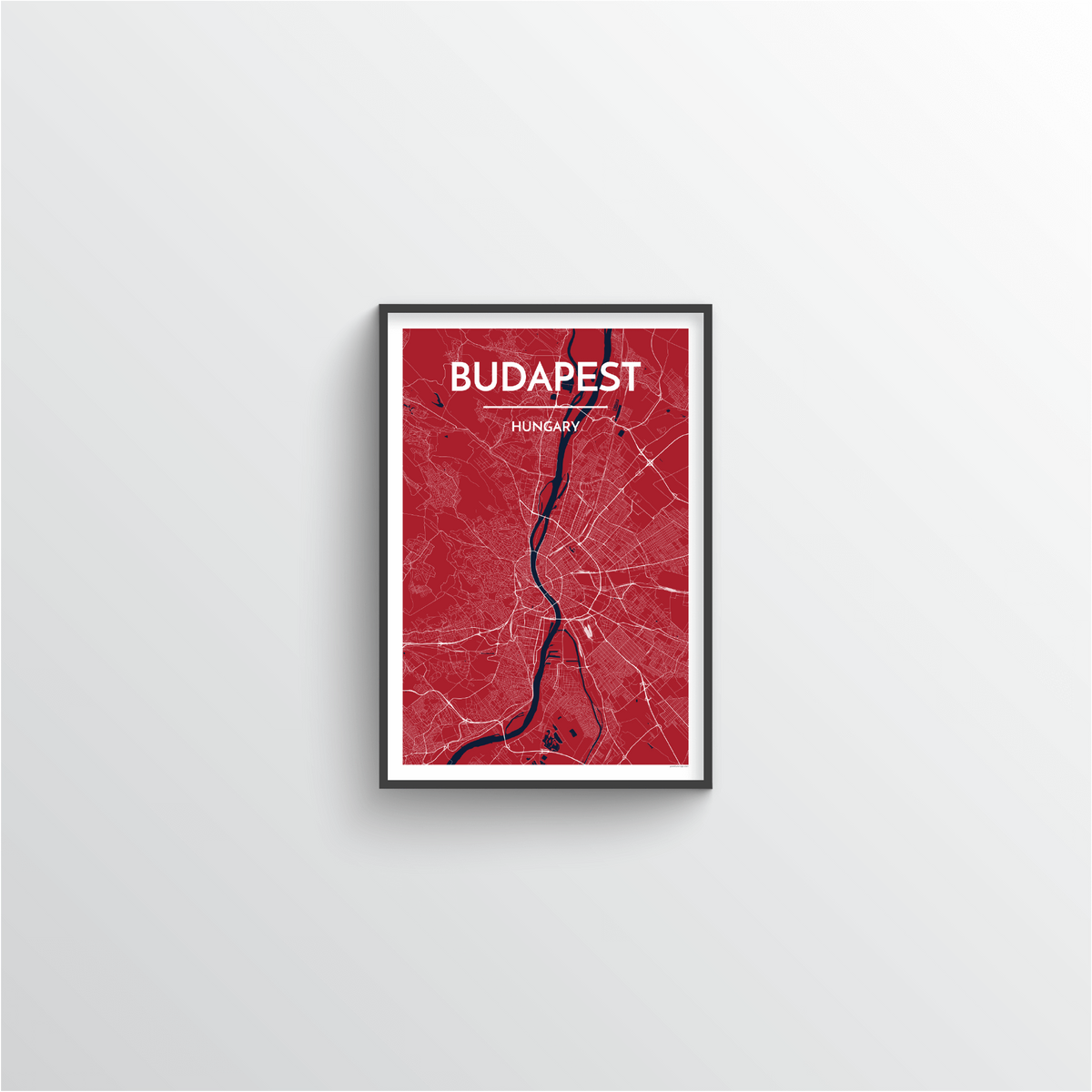 Budapest Map Art Print - Point Two Design